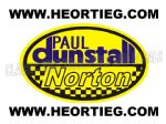 Paul Dunstall Norton Tank and Fairing Transfer Decal D20084-8